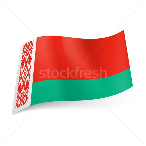 Bayrak Belarus geniş kırmızı dar yeşil Stok fotoğraf © dvarg
