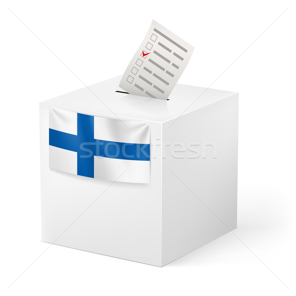 Ballot box with voicing paper. Finland. Stock photo © dvarg