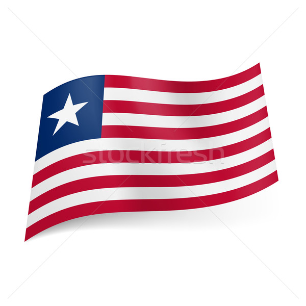 State flag of Liberia. Stock photo © dvarg