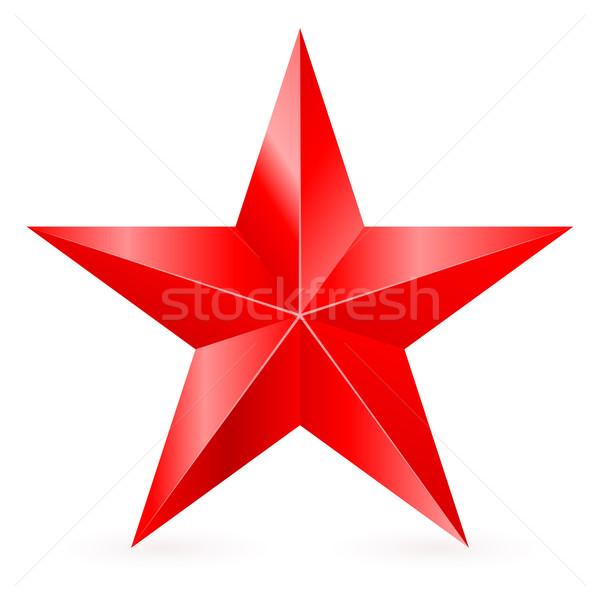 Rood star illustratie witte teken Stockfoto © dvarg