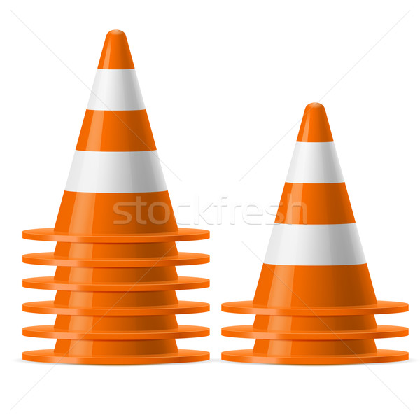 Piles of traffic cones Stock photo © dvarg