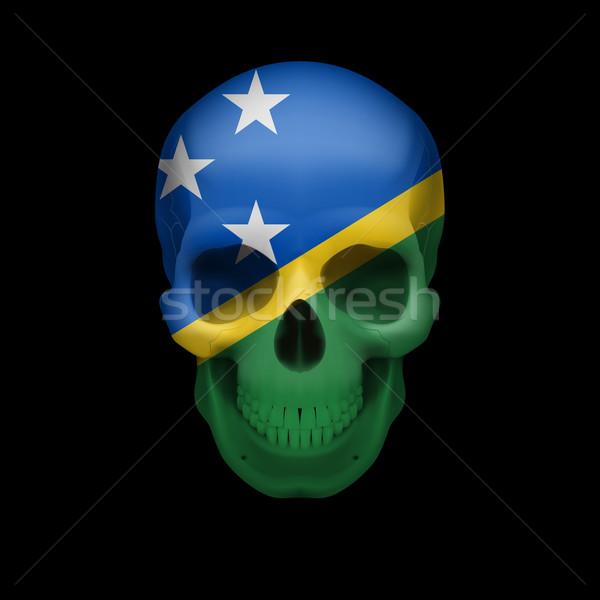 Solomon Islands flag skull Stock photo © dvarg
