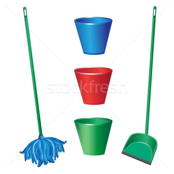 Floor cleaning objects Stock photo © dvarg