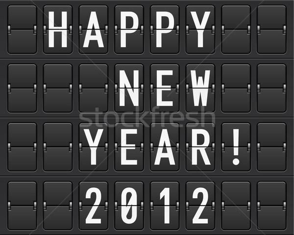 Eredményjelző boldog új évet illusztráció designer számítógép terv Stock fotó © dvarg