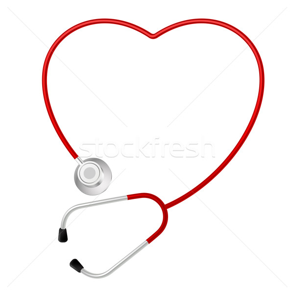 Stethoscope heart symbol Stock photo © dvarg
