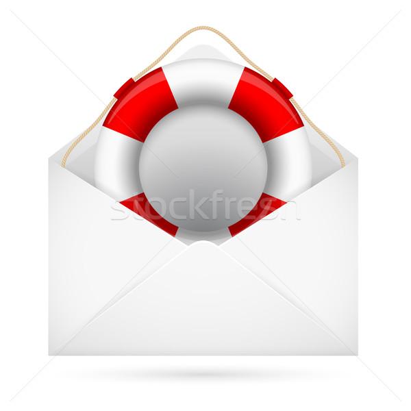 помочь почты иллюстрация дизайна белый компьютер Сток-фото © dvarg
