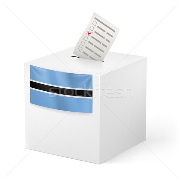 Cédula caixa votação papel Botswana eleição Foto stock © dvarg