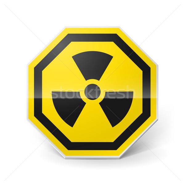 Radyasyon imzalamak parlak Metal beyaz Stok fotoğraf © dvarg