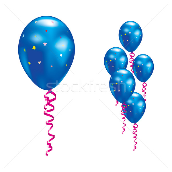 Balloons with stars and ribbons. Stock photo © dvarg