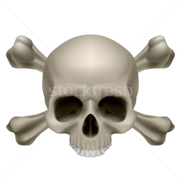 人間 頭蓋骨 実例 白 目 医療 ストックフォト © dvarg