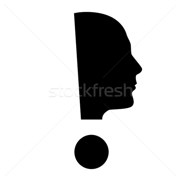 Human face  with exclamation mark Stock photo © dvarg