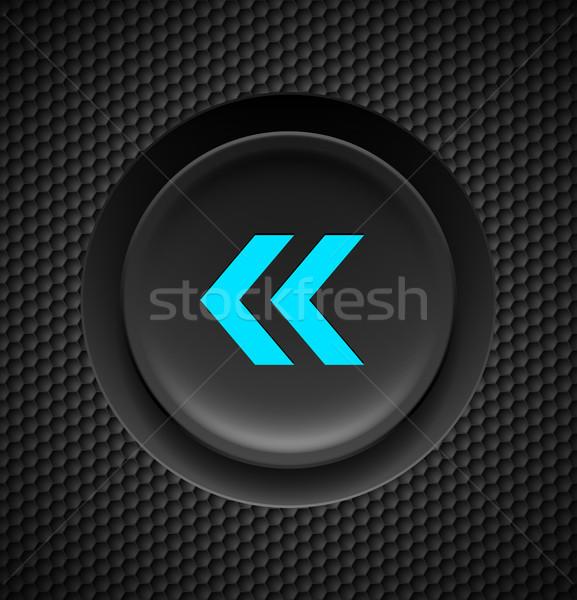 Fast backward button. Stock photo © dvarg