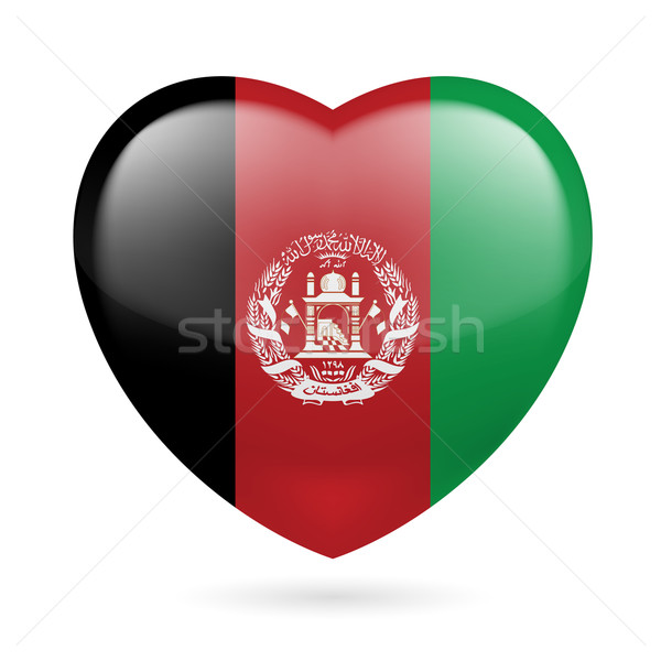 Heart icon of Afghanistan Stock photo © dvarg