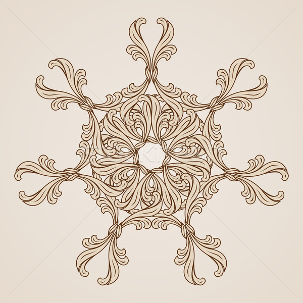 Kwiatowy wzór streszczenie ilustracja świetle Zdjęcia stock © dvarg