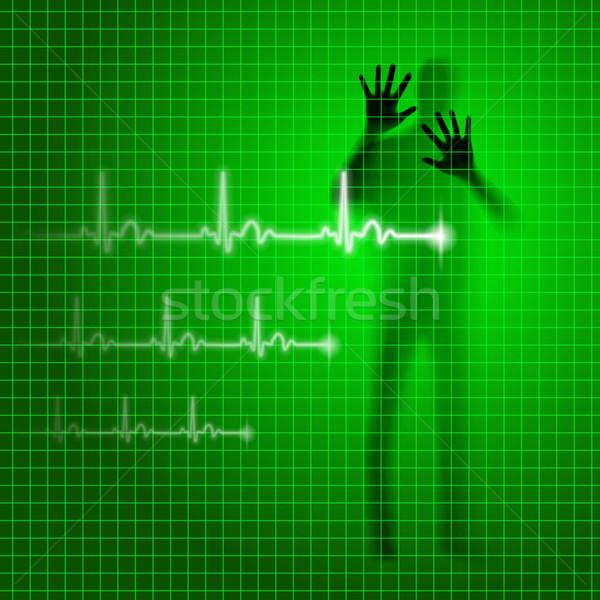 Yeşil tıbbi insan siluet Stok fotoğraf © dvarg