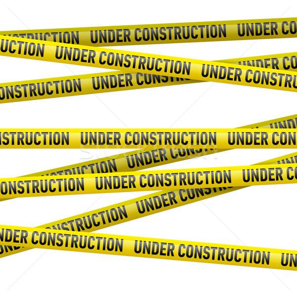 Yellow under construction danger tape Stock photo © dvarg