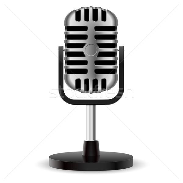 Realistic retro microphone Stock photo © dvarg