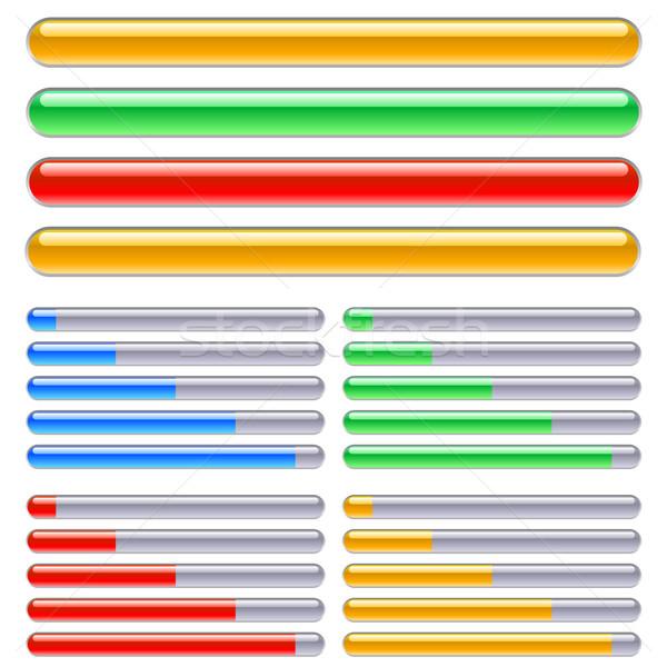 Indicador progresso diferente cores ilustração branco Foto stock © dvarg