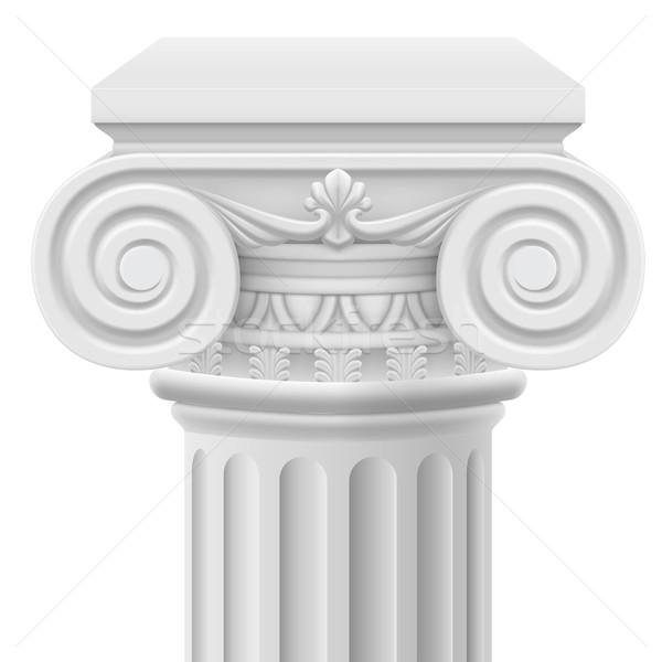 Ionica colonna classico illustrazione bianco design Foto d'archivio © dvarg