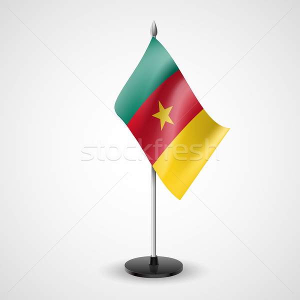 Tabela bandeira Camarões mundo conferência secretária Foto stock © dvarg