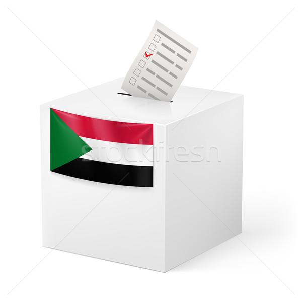 Szavazócédula doboz szavazás papír Szudán választás Stock fotó © dvarg