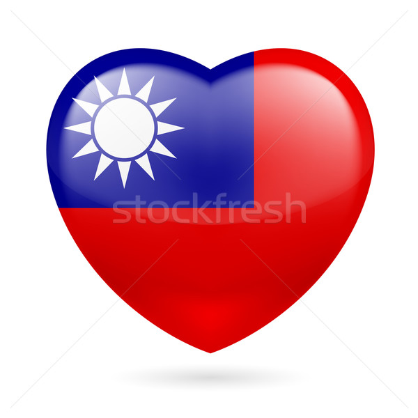 Heart icon of Taiwan Stock photo © dvarg