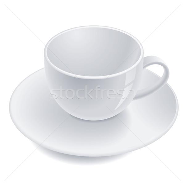 пусто чайная чашка блюдце дома аннотация дизайна Сток-фото © dvarg