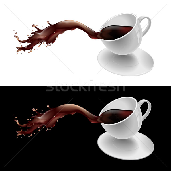 Coffee splashing Stock photo © dvarg