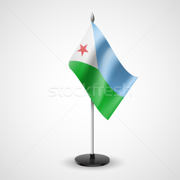 Table flag of Djibouti Stock photo © dvarg