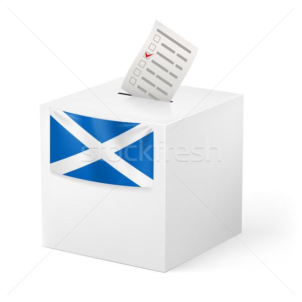Cédula caixa votação papel escócia eleição Foto stock © dvarg