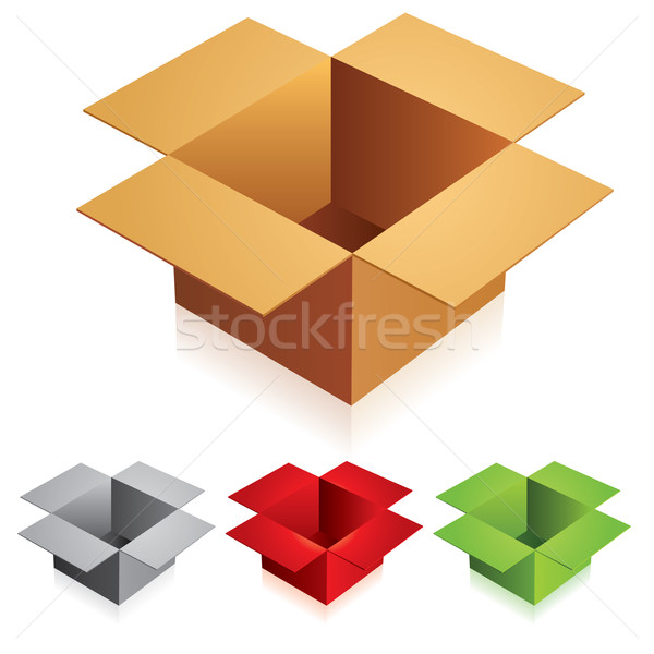 Open color cardboard boxes  Stock photo © dvarg
