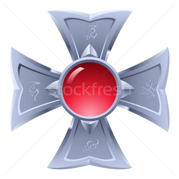 Amulett Illustration isoliert weiß Design Hintergrund Stock foto © dvarg