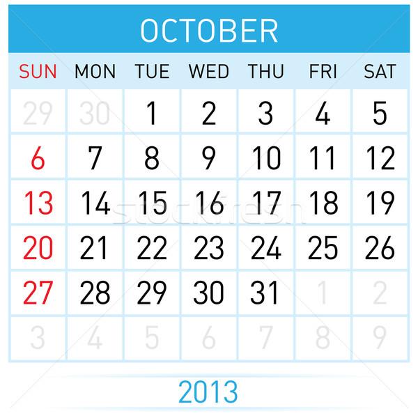 Kalendarza miesiąc ilustracja biały działalności projektu Zdjęcia stock © dvarg