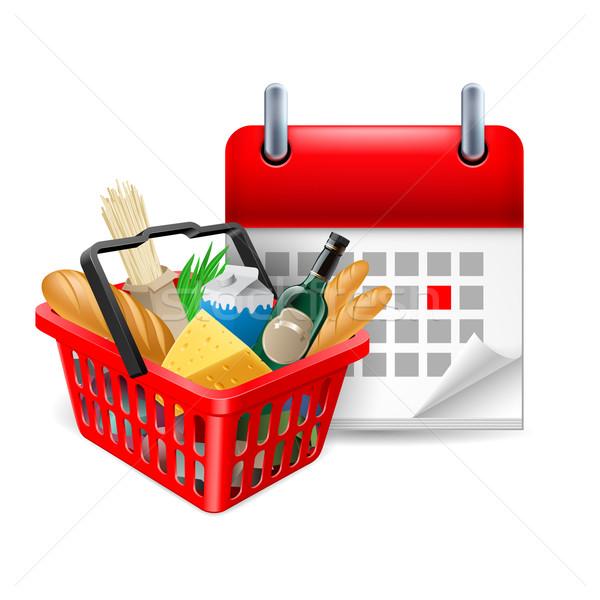 Food basket and calendar Stock photo © dvarg