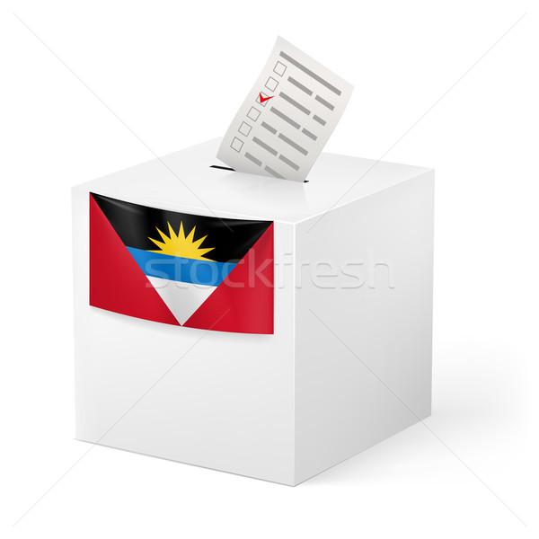 Oylama kutu kâğıt seçim beyaz Stok fotoğraf © dvarg