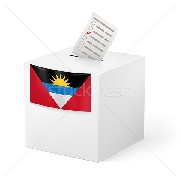 Scrutin boîte papier élection blanche Photo stock © dvarg