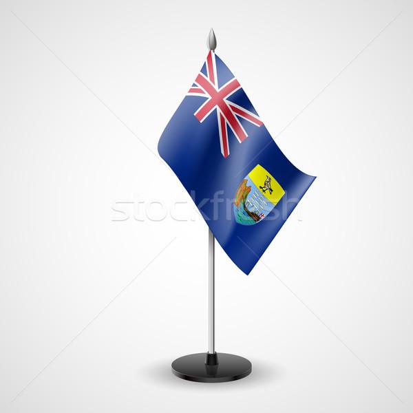 Table flag of Saint Helena, Ascension and Tristan da Cunha   Stock photo © dvarg