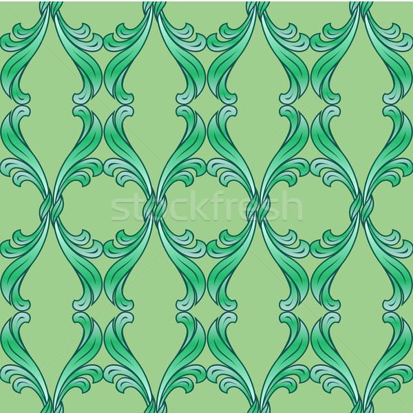 Zdjęcia stock: Zielone · kwiatowy · streszczenie · ozdoba · tekstury · sztuki