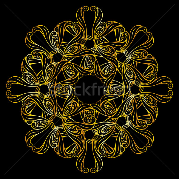 Stock photo: Golden floral pattern