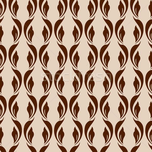 Zdjęcia stock: Kwiatowy · wzór · streszczenie · brązowy · beżowy · tekstury