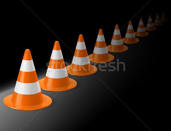 Row of traffic cones Stock photo © dvarg