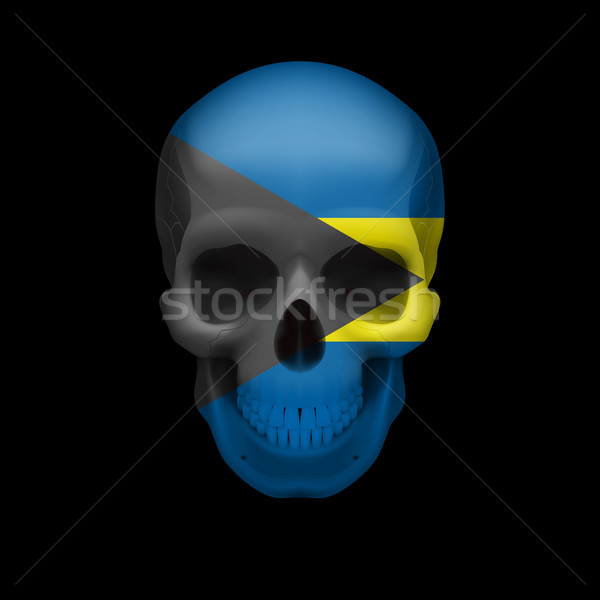 Bahamian flag skull Stock photo © dvarg