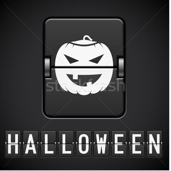 Halloween imzalamak sayı tahtası örnek tasarımcı saat Stok fotoğraf © dvarg