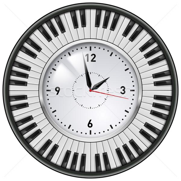 реалистичный служба часы клавиши пианино музыкальный клавиатура Сток-фото © dvarg
