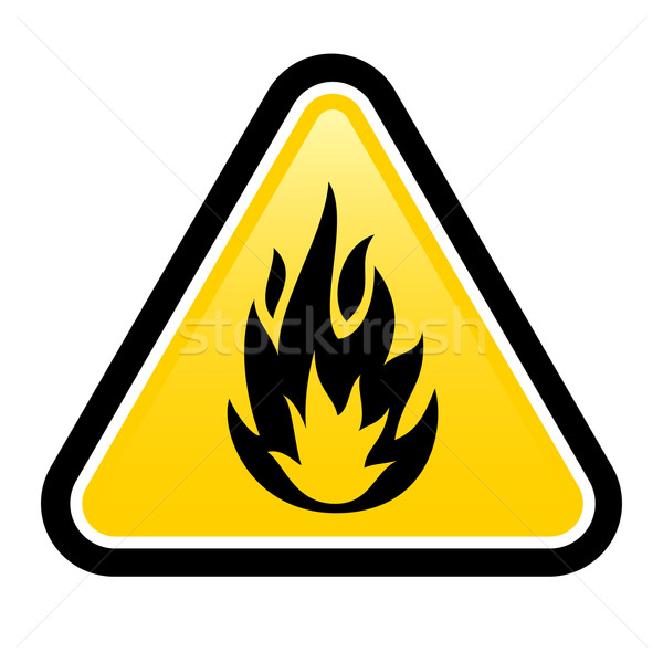 Gyúlékony figyelmeztető jel termék illusztráció fehér terv Stock fotó © dvarg