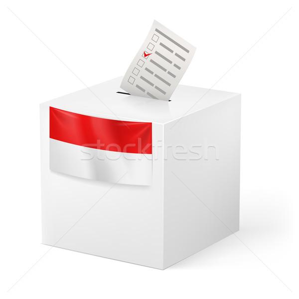 Cédula caixa votação papel Mônaco eleição Foto stock © dvarg
