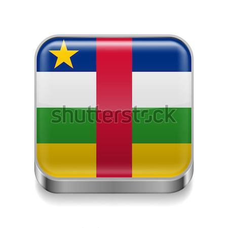 Metal  icon of Central African Republic Stock photo © dvarg