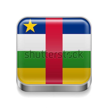 Metal ikona centralny Afryki republika placu Zdjęcia stock © dvarg