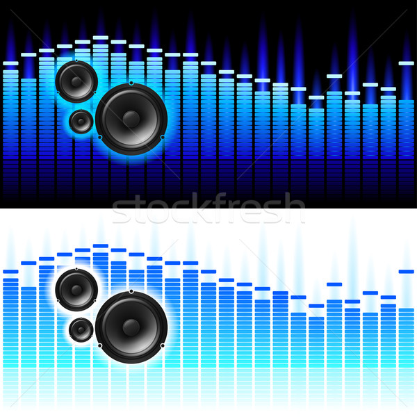 Dźwięku fale biały czarny streszczenie świetle Zdjęcia stock © dvarg