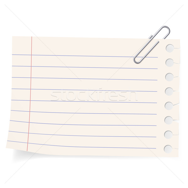 Clipe peça clipe de papel papel ilustração branco Foto stock © dvarg